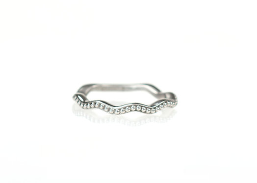 wavy beaded band in palladium