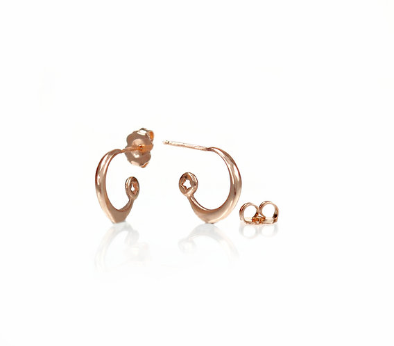 star and moon hoops in rose gold (made to order)