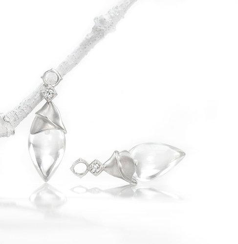 palladium pointed crystal quartz with diamonds