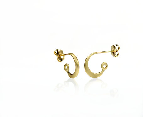 star and moon hoops in 18kt yellow  (made to order)
