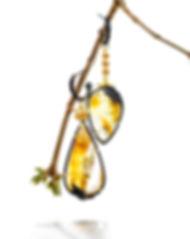 dendritic quartz similars on black hoops