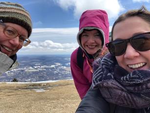 Made the summit!! Rachel Bacon & Suzie Kopf