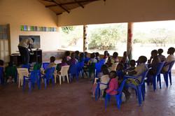 Children in the schoolhouse