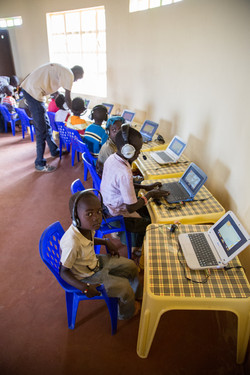 local children learn in the school