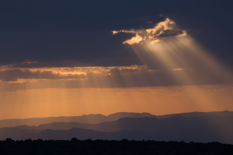 sunset over the rift valley