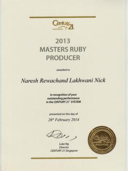 2013-Master-Ruby-Producer Century 21