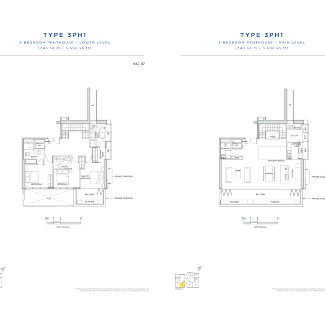 3 Bedroom Penthouse _ Lower and Main Lev