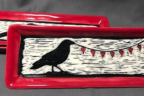 Small plate: Cupid ravens
