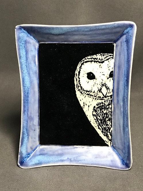 Small plate: Barn owl