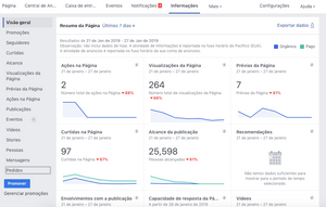 Facebook Insights - Painel