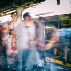 The Geisha Among the Crowd