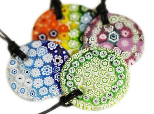 Milliefiori pendants