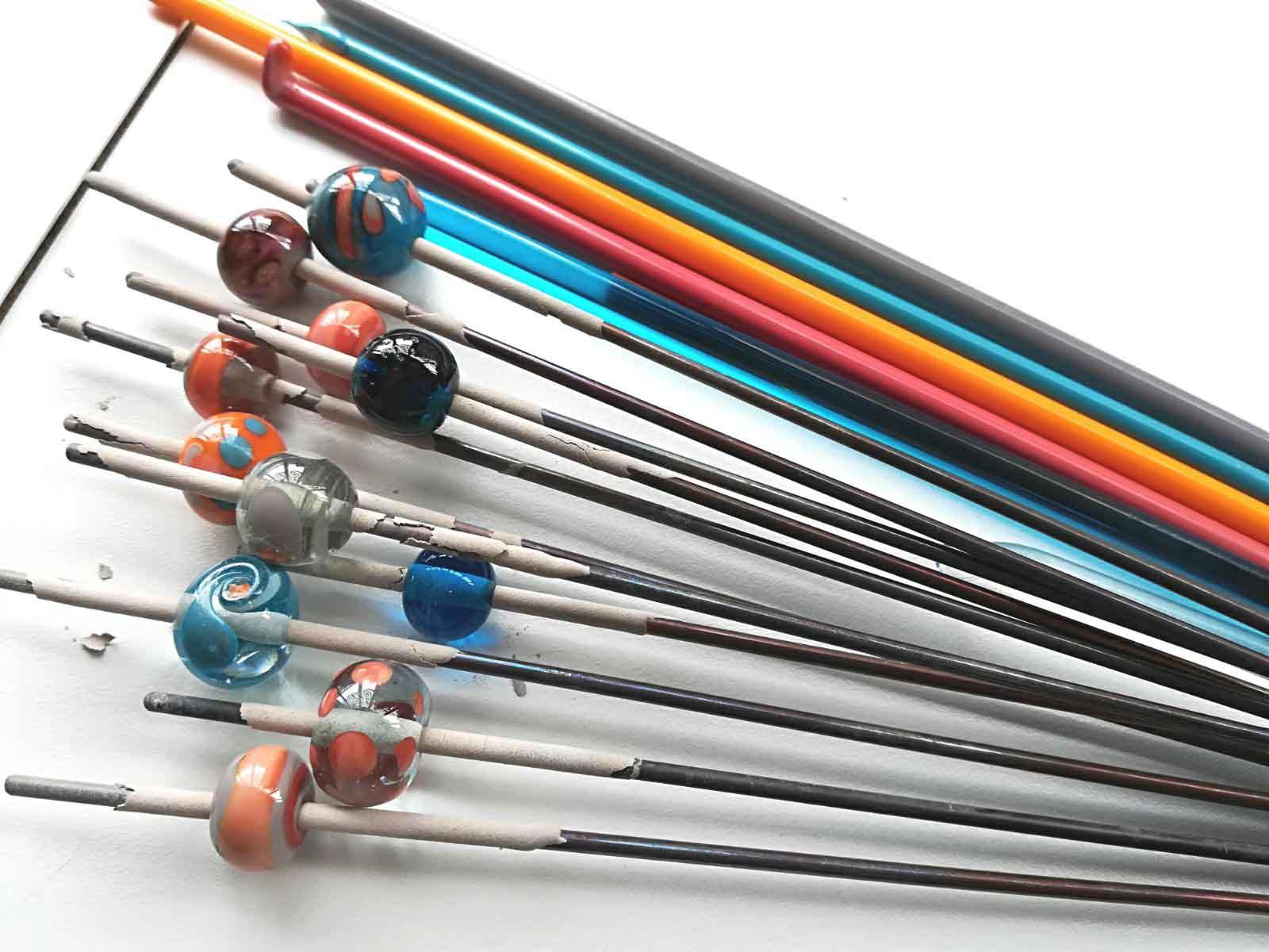 beads on sticks