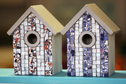 Mosaic Beach Hut Bird boxes