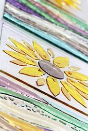 Sunflower door panel
