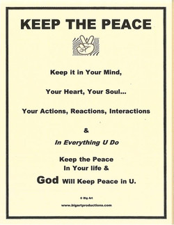 keep peace image