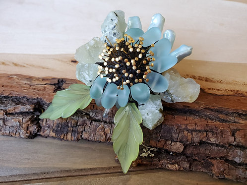 Sara Eileen's Frosted Teal Brooch