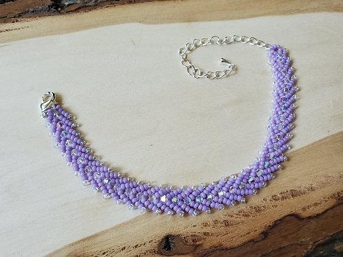 Lia's Lavender Herringbone