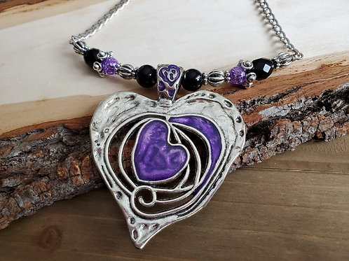 Becky's Giant Purple Heart