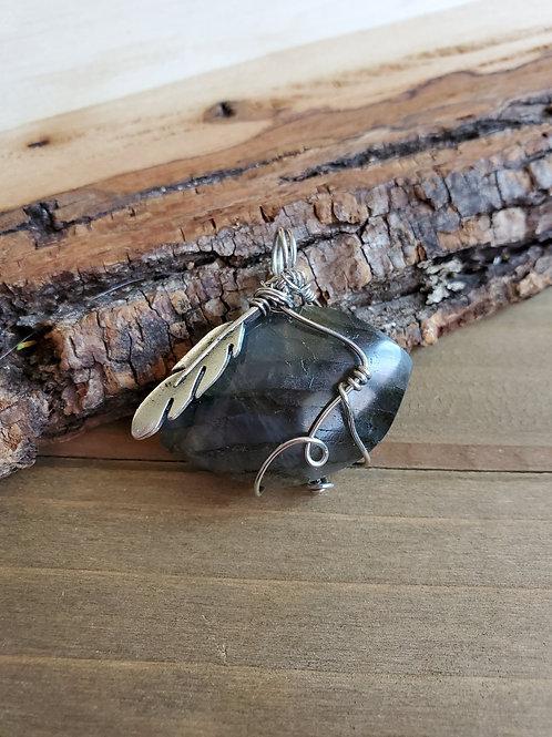 Becky's Labradorite Feather