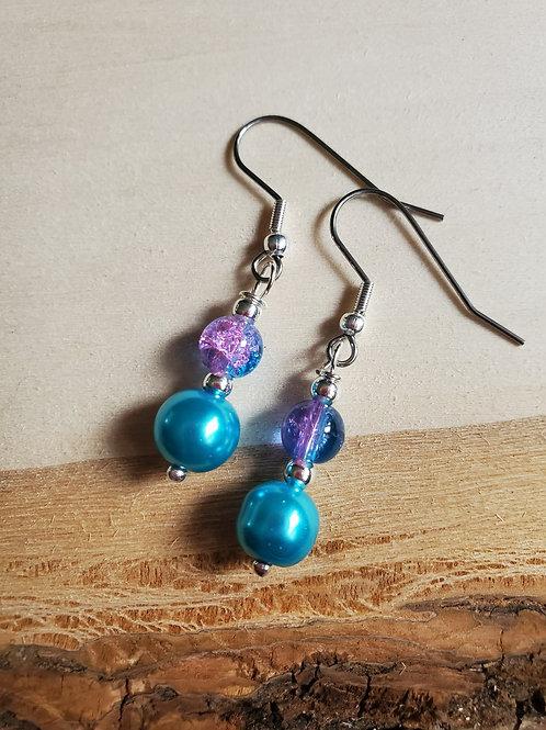 Vavia's Bubblegum Blue Earrings