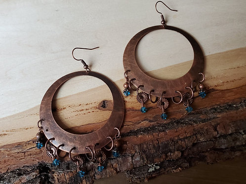 Becky's Copper Hoops