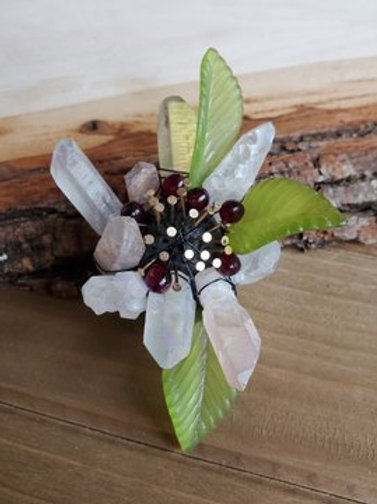 Sara Eileen's Crushed Cherry Ice Brooch