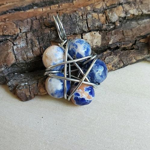 Becky's Pentagram In Sodalite