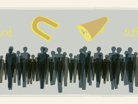 Inbound versus Outbound e a ascensão do marketing de conteúdo.
