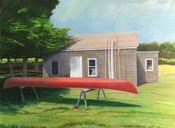 Canoe at Dodge Cottage
