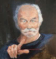 Michael Landi self portrait oil painting