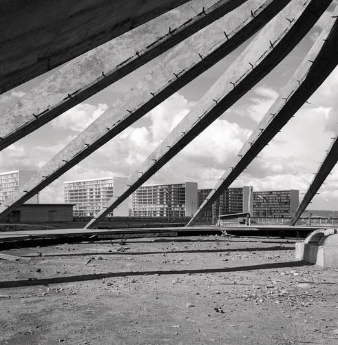 Oscar Niemeyer. Cathedral Under Construction, Brasilia, Brazil..jpg