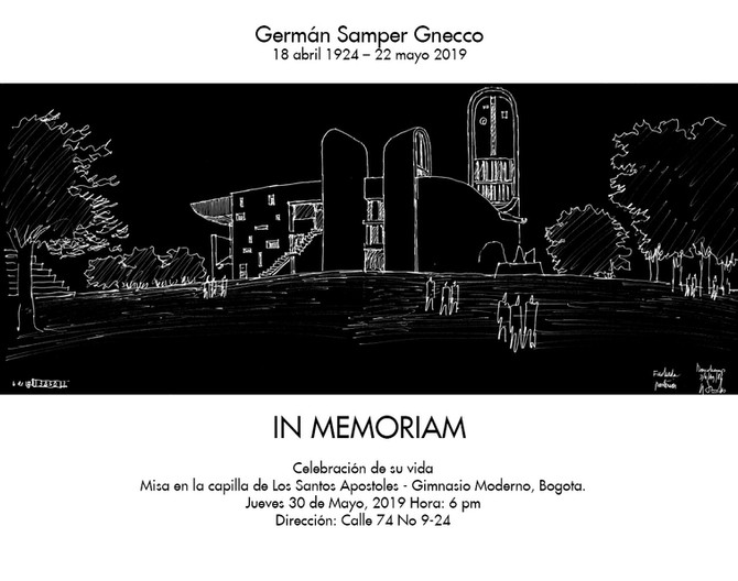 In memoriam - Germán Samper Gnecco