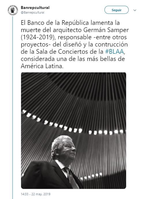 NOTICIAS CARACOL Murió el arquitecto Germán Samper Gnecco
