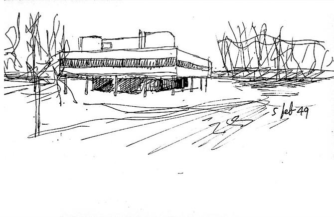 Los dibujos de un creador inquieto El legado del arquitecto Germán Samper es un valioso aporte a la