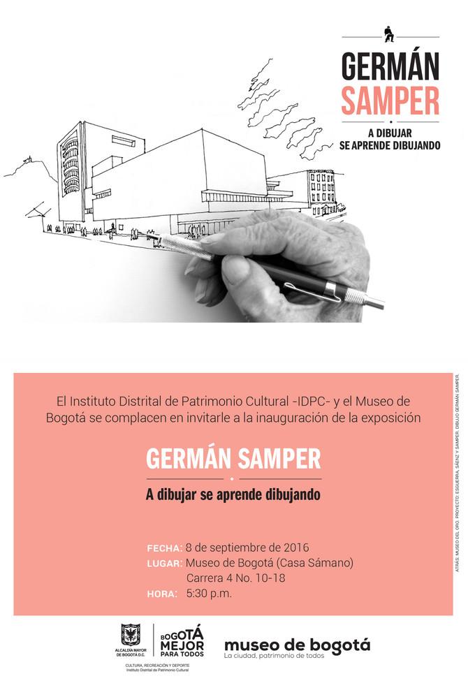 Exposición Museo de Bogotá        GERMAN SAMPER - A DIBUJAR SE APRENDE DIBUJANDO