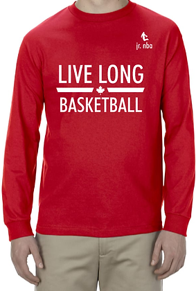 Classic Red Jr. NBA Live Long Long Sleeve Tee