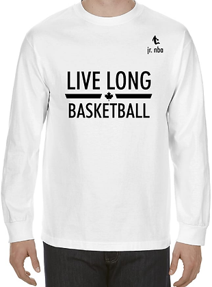 Classic White Jr. NBA Live Long Long Sleeve Tee