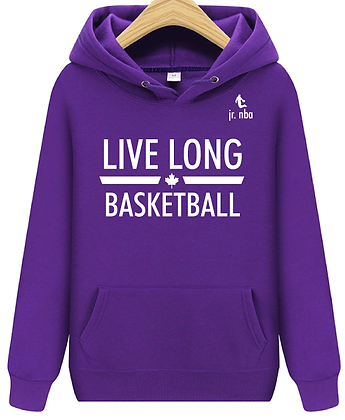 Classic Purple Jr. NBA Live Long Hoodie