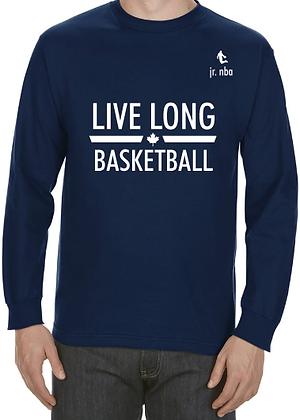 Classic Navy Blue Jr. NBA Live Long Long Sleeve Tee