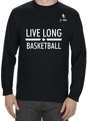Classic Black Jr. NBA Live Long Long Sleeve Tee