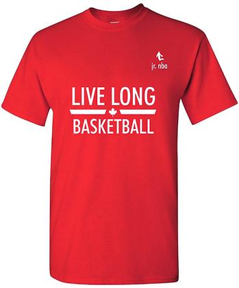 Classic Red Jr. NBA Live Long Basketball Tee