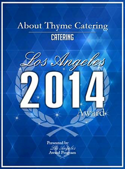 About Thyme Best Catering Company in LA award