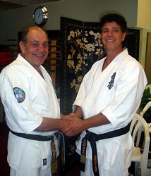 with Hanshi Steve Arneil