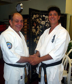 with Hanshi Steve Arneil