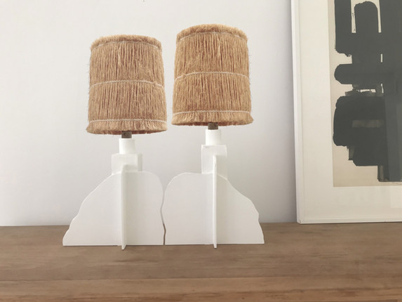 Pair of N°7 Twin Lamps / 30 X 30 X 14 cm.