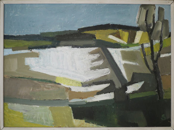 Bernt Schneivogt / Oil on canvas, 1957. 62 X 82 cm. Sold.