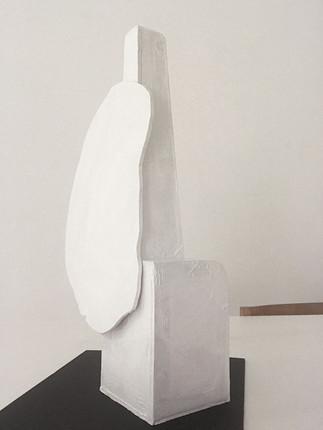 Lamp N°1 / 50 X 25 X 12 cm. Cardboard prototype.