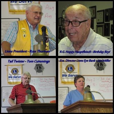 Cushing Lions Club Visit