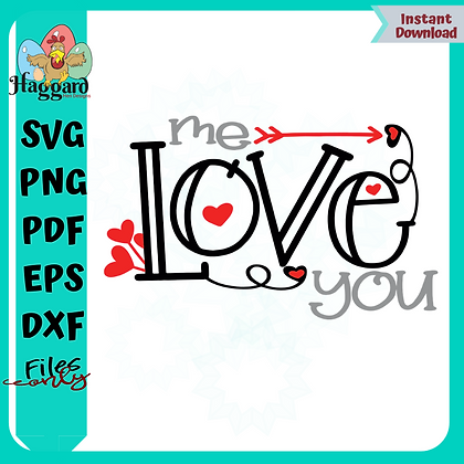 Me love you SVG